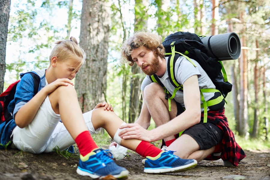 Injury on trail at kids summer camp