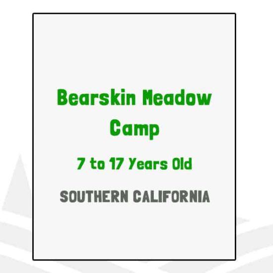 Bearskin Meadow Camp - CA