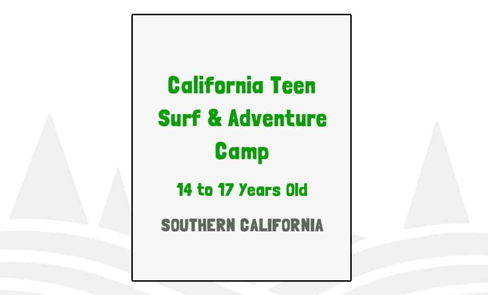 California Teen Surf & Adventure Camp - CA