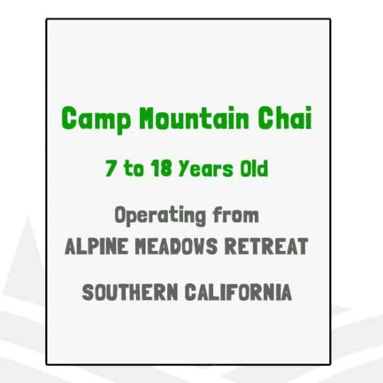 Camp Mountain Chai - CA