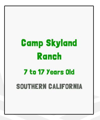 Camp Skyland Ranch - CA