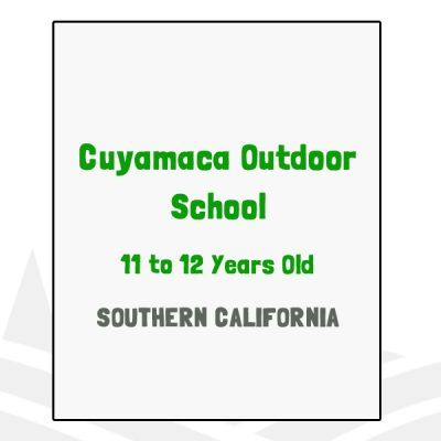 Cuyamaca Outdoor School - CA