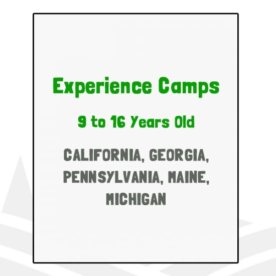 Experience Camps - CA, GE, ME, MI, PA