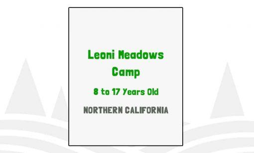 Leoni Meadows Camp - CA