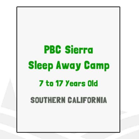 PBC Sierra Sleep Away Camp - CA