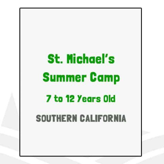 St Michael's Summer Camp - CA
