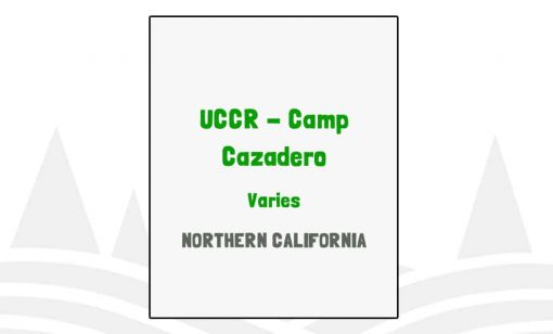 UCCR Camp Cazadero - CA