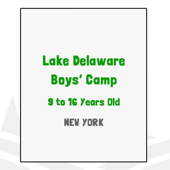 Lake Delaware Boys Camp - NY