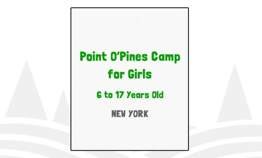 Point O'Pines Camp for Girls - NY