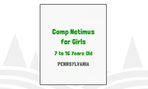 Camp Netimus for Girls - PA