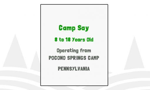 Camp Say - PA