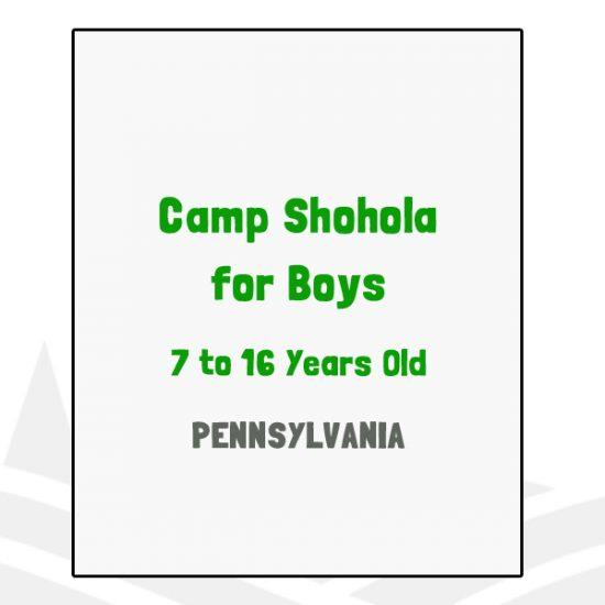 Camp Shohola for Boys - PA