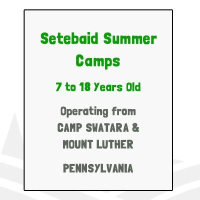 Setebaid Summer Camps - PA
