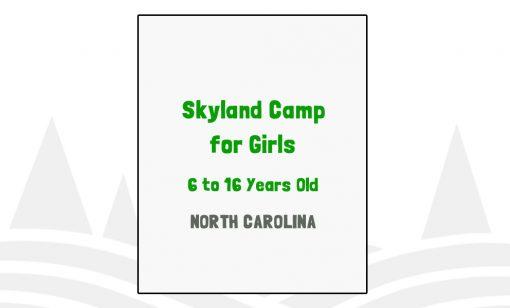 Skyland Camp for Girls - NC