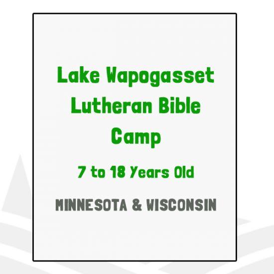 Lake Wapogasset Lutheran Bible Camp - MN, WI